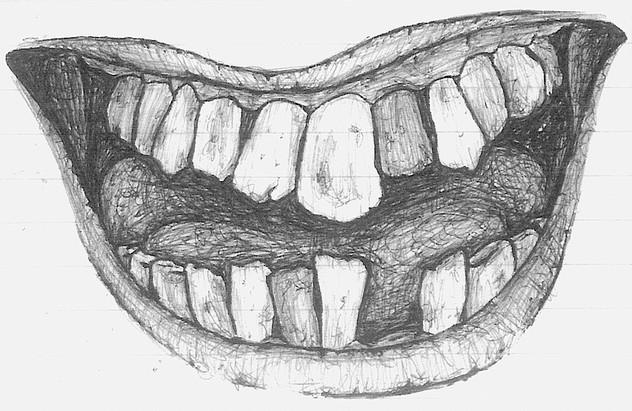 """F#@ked Up Teeth (""""American Zombie"""" 'Zine)"""