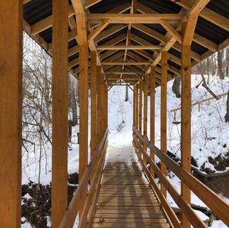 Creek Bridge in Winter