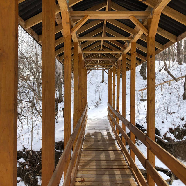 Creek Bridge in Winter