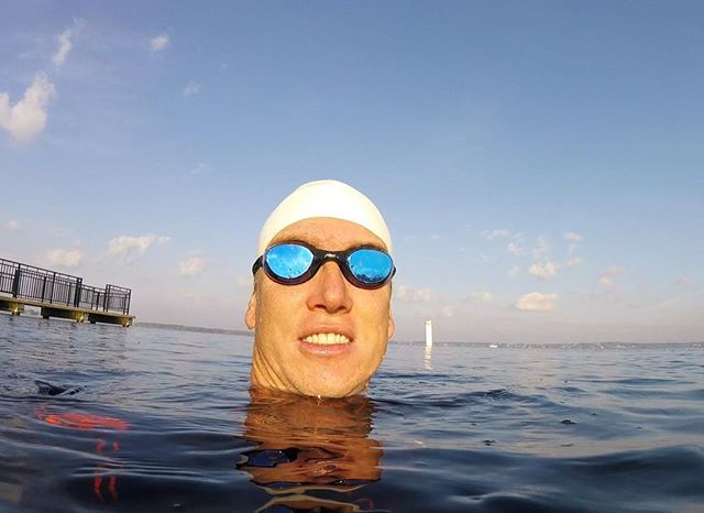 Open water swim Wednesday! 70 degrees out and 71 degree water. Just about perfect.jpg