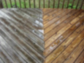 cleaning and oiling decking