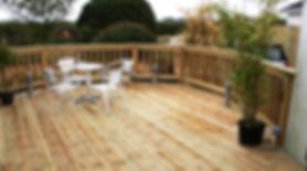 deckng in garden