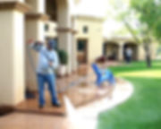 high pressure cleaning patios