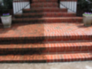 cleaning paving steps