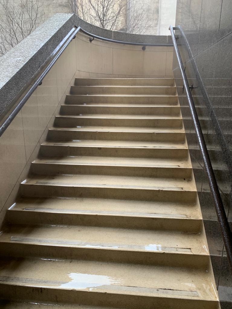 Jet Washing - Commercial stairs post-clean