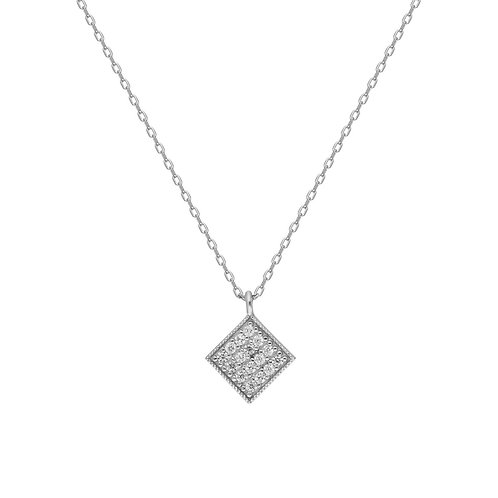 Silber Geometric Necklace