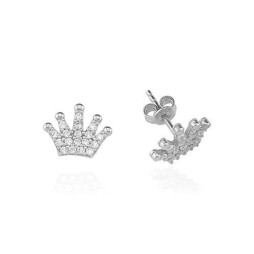 Silber Crown Ohrringe
