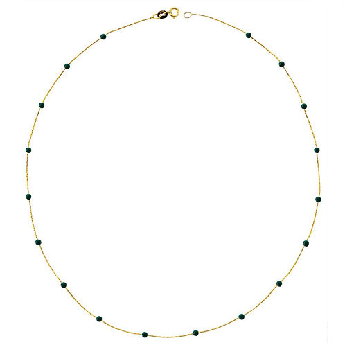 Gold Jade Pave Halskette