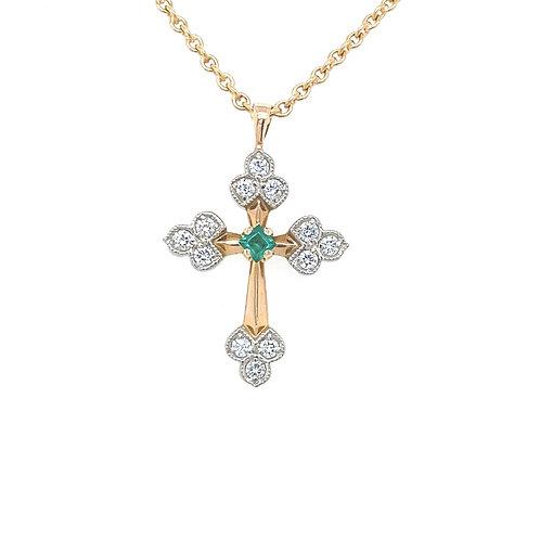Artdeco Cross Necklace