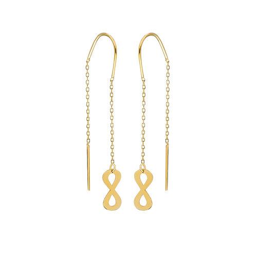 Gold Infinity Ohrringe
