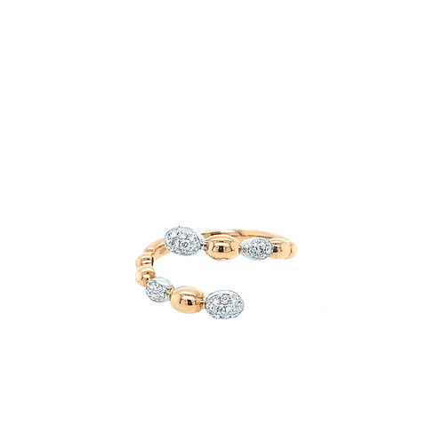 Roségold Plait Ring