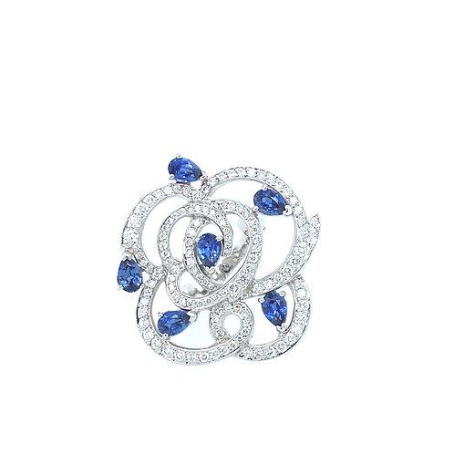 Flower Safire Ring