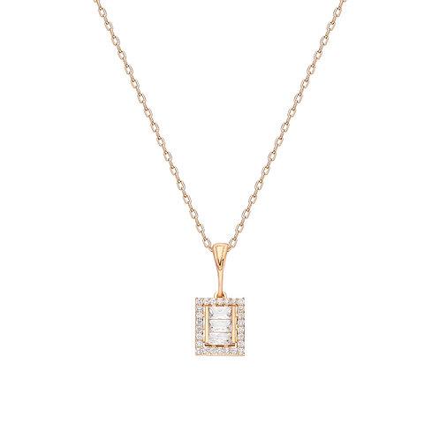 Silber Baget Halskette