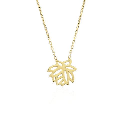 Gold Leafs Halskette