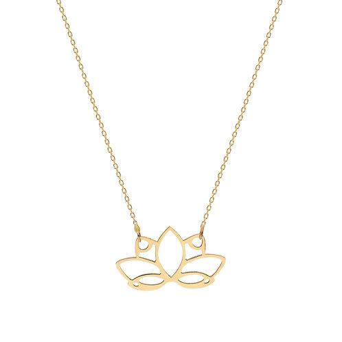 Gold Water Lotus Halskette
