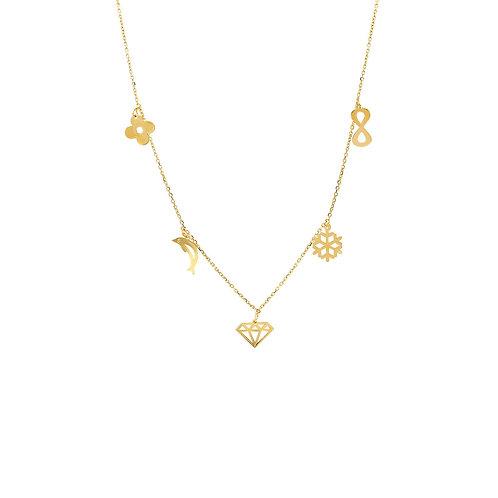 Gold Luck Halskette