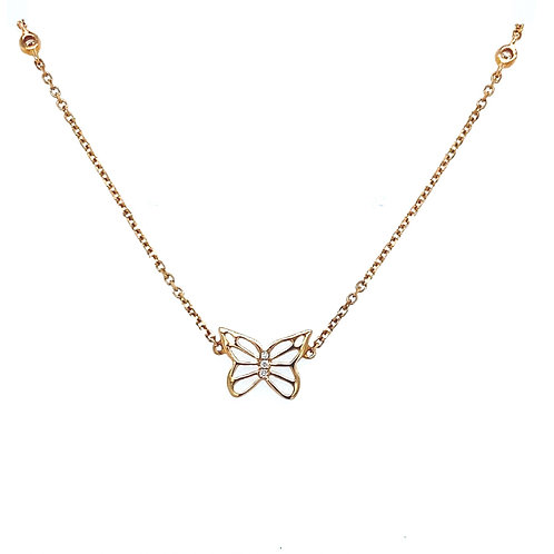 Roségold Butterfly Necklace