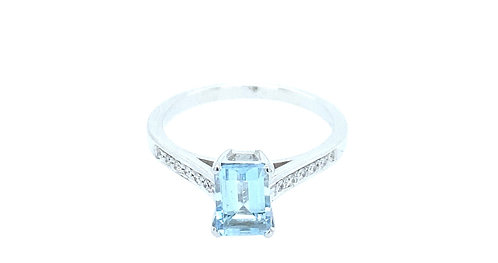 Aquamarin Square Ring