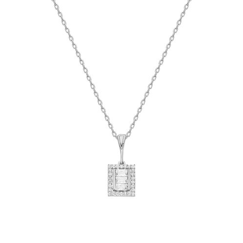 Silver Baget Necklace