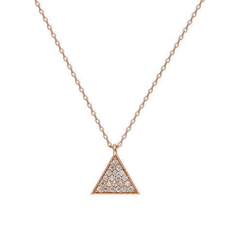 Silber Threegen Rosè Halskette