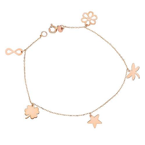 Roségold Bracelet Luck