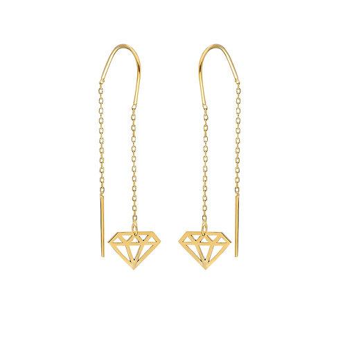 Gold Diamond Cut Ohrringe