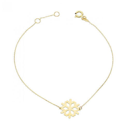 Gold Bracelet Snowflake