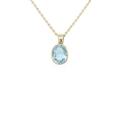 Aurora Aquamarin Halskette