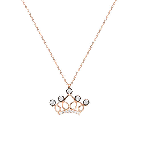 Silber Crown Necklace