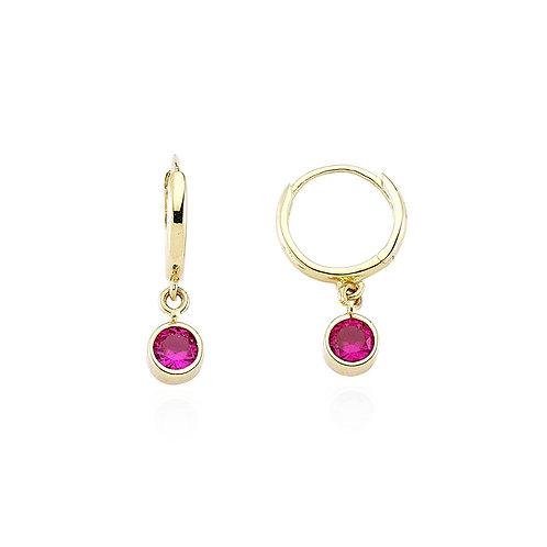 Gold hoop Earrings Pink