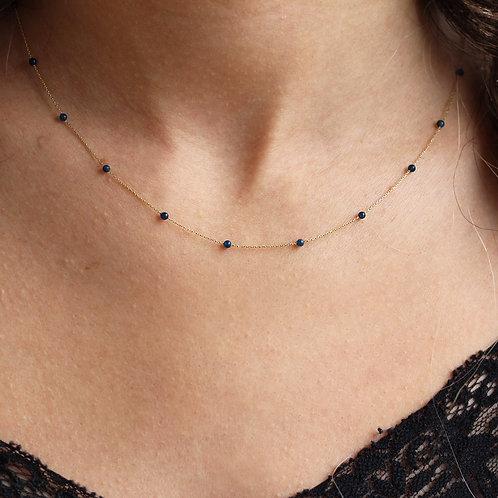 Lapis Gold Halskette