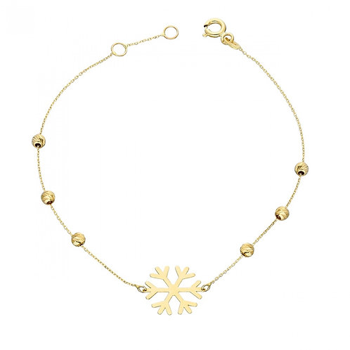 Gold Armband Dorika Snowflake