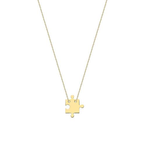 Gold Puzzle Necklace