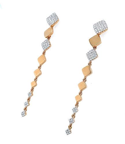 Rosegold Casket Earrings