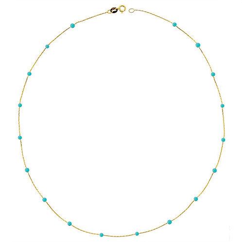Türkis Gold Halskette