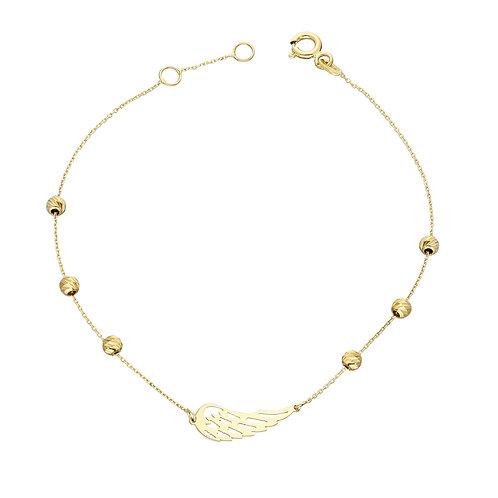 Gold Armband Dorika Wing