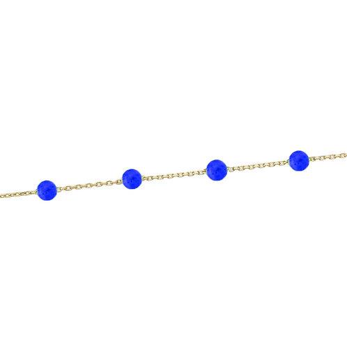 Gold Armband Lapis