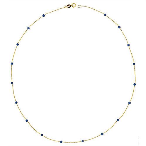 Gold Lapis Pave Halskette