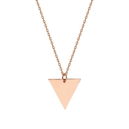 Roségold Threegen Halskette