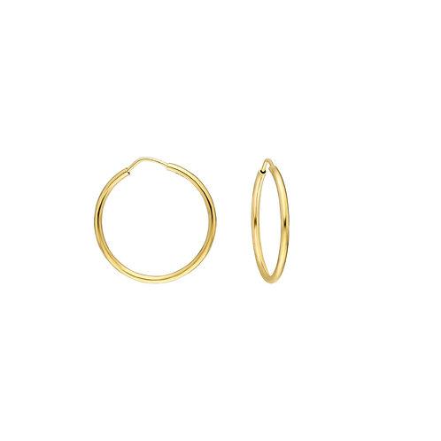 Gold Hoop Earrings 2 cm