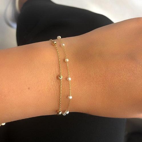 Perlen Gold Armband
