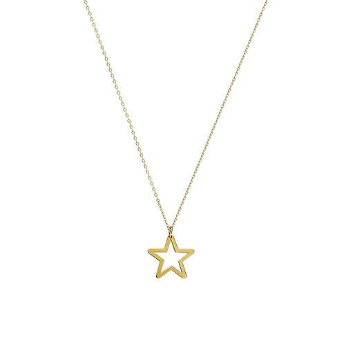 Gold Open Star Halskette