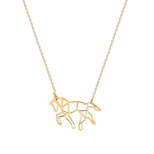 Gold Horse Necklace