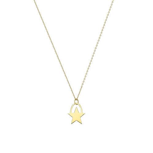 Gold Star Circle Halskette