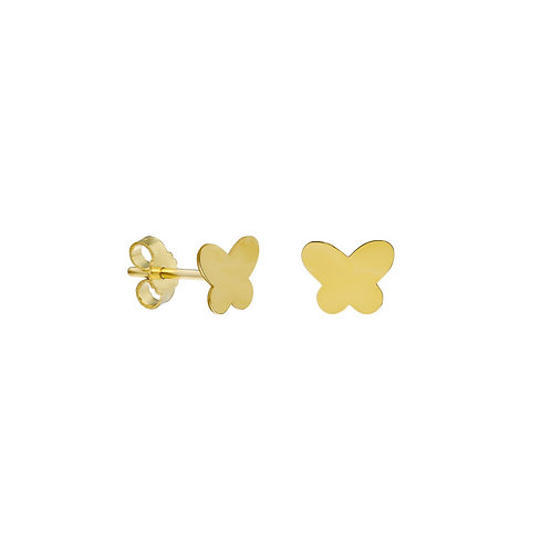 Gold Butterfly Ohrstecker