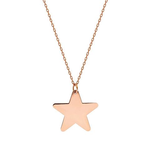 Roségold Star Halskette