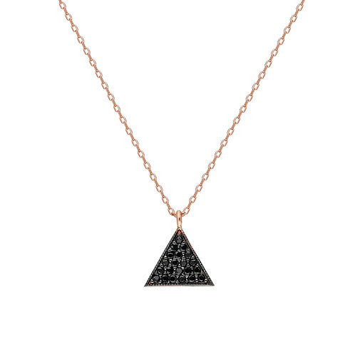 Silber Threegen Black Necklace