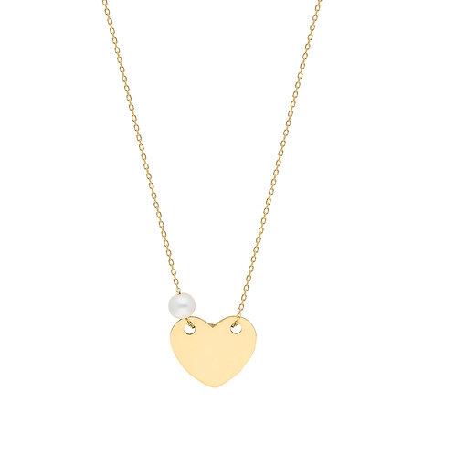 Gold Heart Halskette