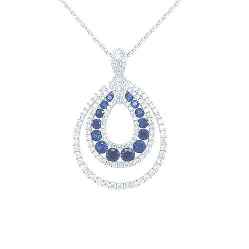 Safir Drop Necklace