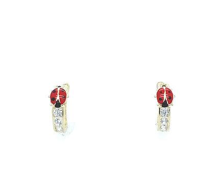 Ladybug Kids Hoop Earrings
